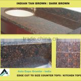 Tan Brown Granite Kitchen Tops / Counter Tops with Beveled Edge