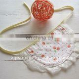 100% cotton Sweety little cherry lace baby bibs with high quality