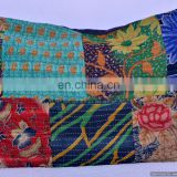 Indian Kantha Cushion Cover Pillow Case Ethnic Decor India Art Large Size Pillows Cover