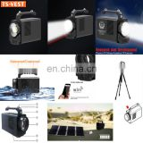 Brightest Handheld Spotlight Long Range Video Camera Waterproof Solar Searchlight