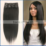 Wholesale High Quality Virgin Brazilian Silky Straight Clip In Hair Extensions Factory Price
