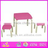 2015 New cute wooden table and chair. popular wooden table and chair and hot sale colorful table and chair WO8G101