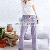 Womens Poly/Cotton Drawstring Pants/Top tee package