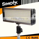 High Power Stackable 12W LED Video Light Panel with Chargeable Battery On Camera