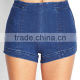 hot selling women denim shorts made in china wash skinny wholesale cheap high waisted denim shorts