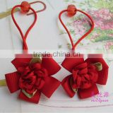 New cute big bow dot flora hair rope headwear girls hair ponytail holder scrunchie fancy hair ornaments