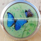 Double-sided Folding/Compact/Pocket/Make Up/Purse/Cosmetic Mirror- Butterfly