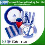 Disposable color printed paper tableware--paper plates paper cups paper napkin paper straw