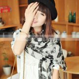 2014 women cheap price fashion style lovely long butterfly stole(PP085AL)