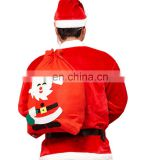 Christmas Printed Red Lightweight Large Drawstring Santa Claus Gift Bag