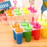 promotion home kitchen handmade silicone round shaped ice popsicle molds