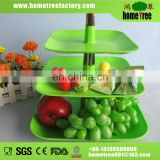 3 layer square plastic fruit tray