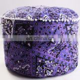 Indian Handmade Star Mandala Boho Home Decor Ottoman Pouf Cover Seating Furniture Footstool
