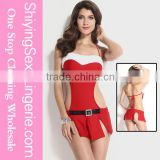 Classic Wholesale Christmas Cutie Lingerie Set Santa Claus Sexy Girls Costume