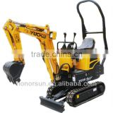 0.8 ton mini crawler excavator from yuchai yc08-8 model/china most smallest crawler excavator