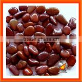 Natural River Stone In Red Color Pebble Stone And Cobble stone