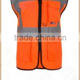 OEM orange wholesale reflective vest men protect workwear