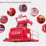 Hydraulic Js750 Electric Automatic Concrete Mixer Equiment For Industry