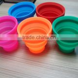 2016 hot selling food grade collapsible silicone folding cup