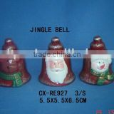 pottery painting jingle bell for xmas deco