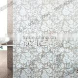 hot sale sliding door glass sticker with white mini flower