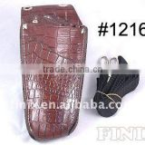 Stylish Dark Brown Color Leather Scissor Holster