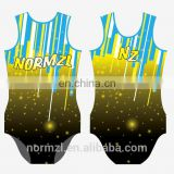 high cut spandex gymnastics leotards hip hop dance wear for women