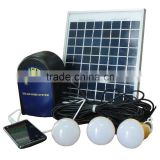 CE RoHS mini 6W 21V solar home lighting system