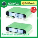 Hot sale new design Battery Plastic square desk clock for logo print
