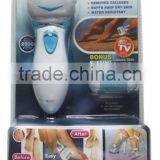 Plastic electronic foot roller battery operated personal pedicure foot file