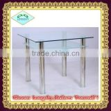 high quality clear Glass Dining Table Modern Dining Table