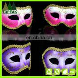 Customized Plastic Gold lace Glitter Painted mask Halloween Karneval party Cosplay face mask
