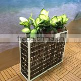 Garden Furniture Planter Wicker Rattan Flower Pot