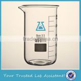 250ml Tall Form Borosilicate Beaker With Spout and Graduated