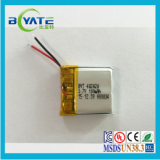 3.7v 100mah lithium polymer battery with wire for bluetooth headset