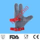 Three digits protection! Finger cot stainless steel mesh safety gloves steel mesh safety gloves Wholesale