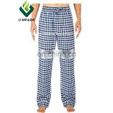 Cotton Flannel Pajama Lounge Pants- Blue/Green/Yellow Plaid