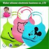 Fashionable eco-friendly waterproof silicone baby bib