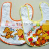 Beautiful cartoon printing baby bibs, animal printing, cotton