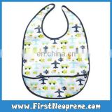 Hot Selling Airplane Cartoon Cute Neoprene Baby Bibs