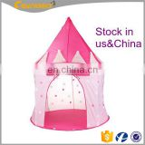 Children Tent,Prince And Children Play House Toys Castle Design Round Shape Girls Princess Tent
