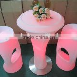 Led plastic center furniture/commercial meeting chair/led chair