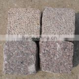 red granite block