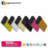 New design leather rohs polymer cell mobile phone power bank charger 10000mah with dual USB