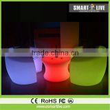 rohs changing rechargeable led chair Multi color for hotel uv led light
