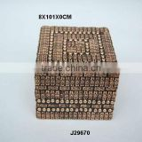 Copper Metal Mosaic Wooden Box available in all sizes