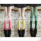 Japanese Nude Girls Rainbow Gradients Model Winter Warm Velvet Fashion Women Tights