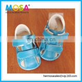 Brand New Boys Closed Toe Summer Squeaky Sandals Infant Size 0-3Y Skyblue