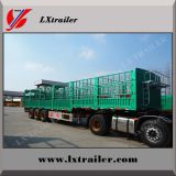 Bulk goods transport use 3 axles heavy duty dropside fence truck trailer for sale