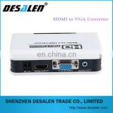High qualtiy HDMI to VGA converter with audio adapter connector